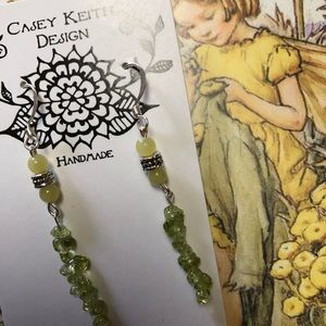 Casey Keith Design Jewelry - Rock candy peridot and jade earrings